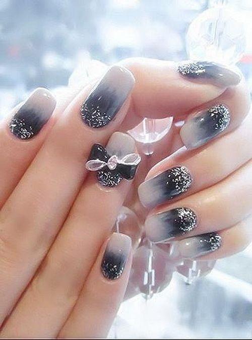 jazzy prom night nail art design