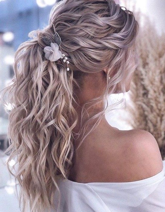 36 Elegant And Fresh Wedding Hairstyle Trendy In 2019 - SooShell | Prom hair up, Braided prom hair, Front hair styles