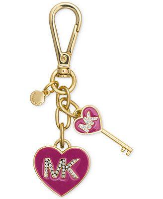 MICHAEL Michael Kors MK Enamel Heart Key Fob
