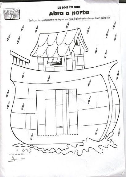 Desenhos para colorir e pintar: A Arca de Noé... | Arche de Noé ...
