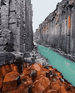 This Basalt canyon seems to be like its from a different earth  marvelous  This Basalt canyon seems to be like its from a different earth  marvelous gif  people gifs  an...