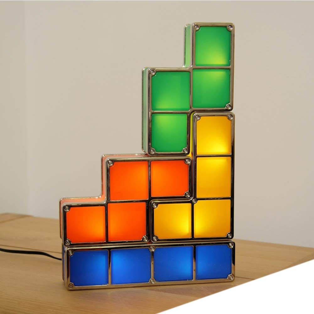 Amazonsmile Keeword Diy 7 Pcs Tetris Night Light 7 Colors Stackable Tangram Puzzles 7 Pieces Led Induction Interlocking Lamp Ma Puzzle Lights Lamp Night Light