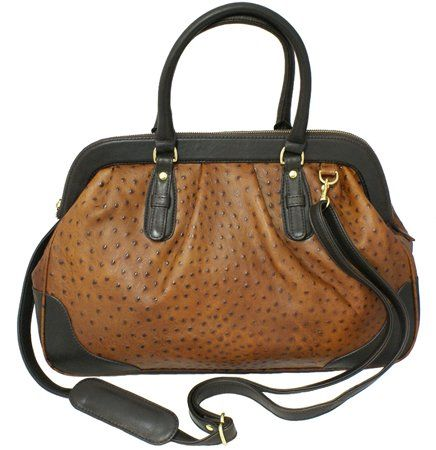 Ostrich Leather Doctor Bag