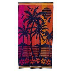 Celebrate Summer Together Palm Sunset Beach Towel Beach Towel