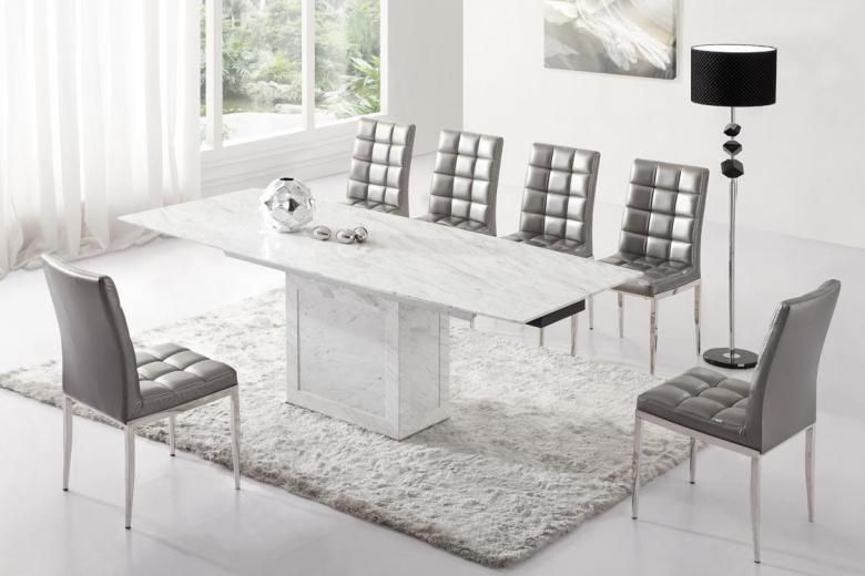 Tonnant table et chaise salle a manger moderne for Chaise contemporaine blanche