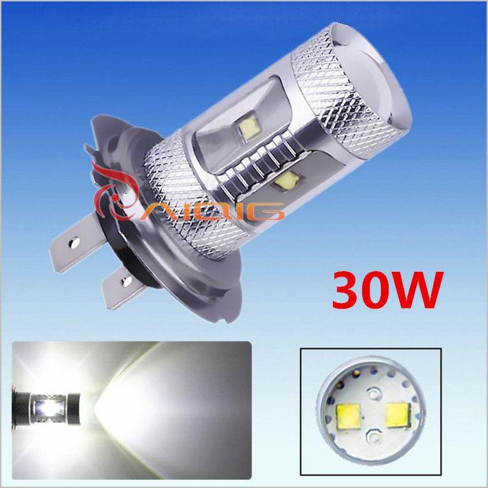 20pcs H7 30W XBD LED cars Fog Head lights Bulb auto Lamp 12V 24V Signal Tail parking car light source led car bulbs DRL
