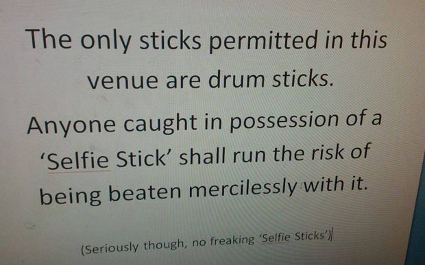 As the Smithsonian Institution bans selfie sticks in the US, here's what   Britain's music venues and museums think