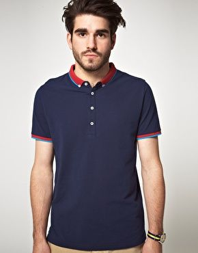 Enlarge ASOS Polo Shirt With Contrast Collar