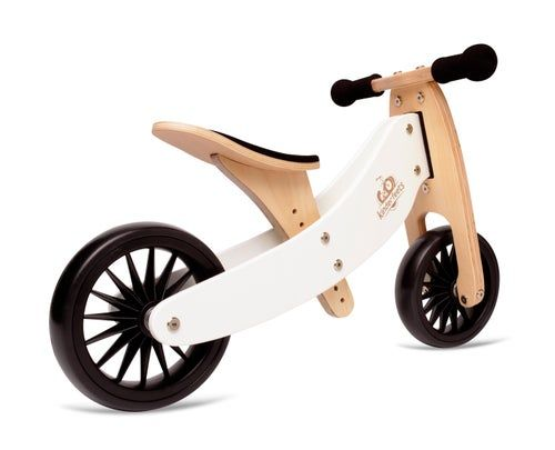 Kinderfeets 2 In 1 Tiny Tot Plus Tricycle Balance Bike White In 2020 Bike Balance Bike Tricycle
