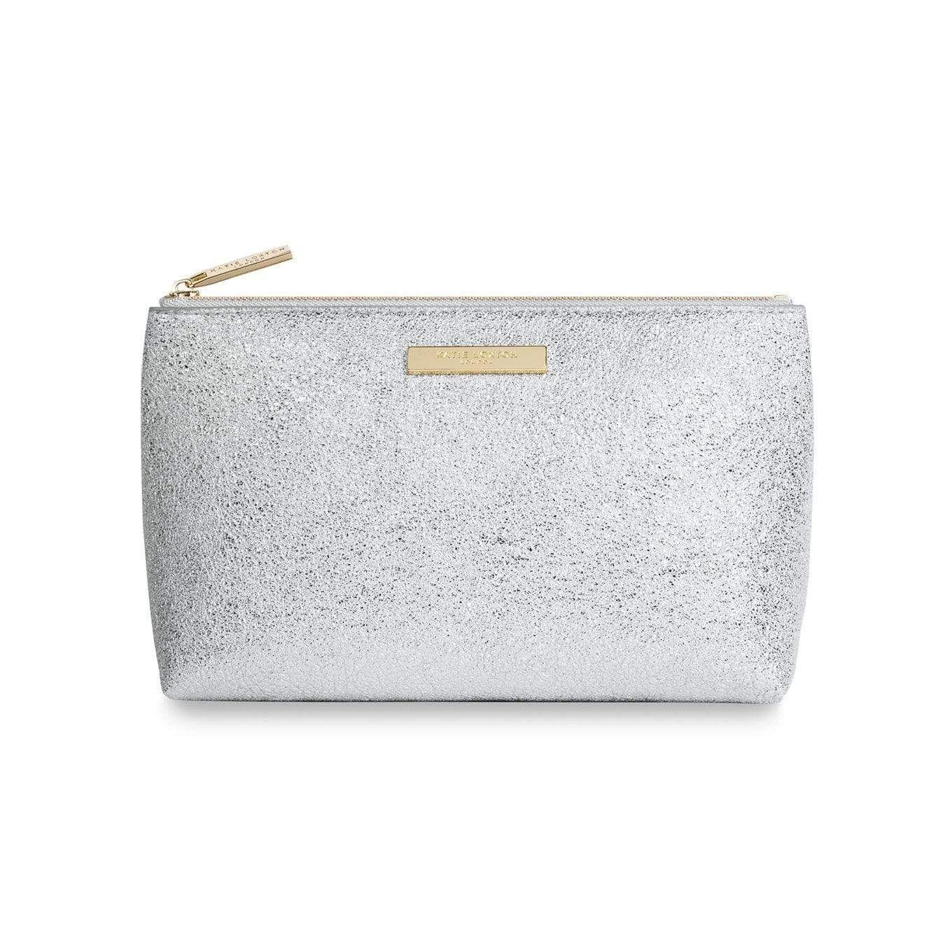 Katie Loxton Metallic Silver Mia Make Up Tasche KLB384 S – Einheitsgröße