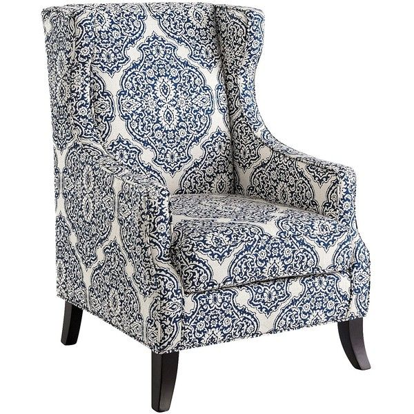 Pier 1 Accent Chairs Walmart Bean Bag Imports Blue Alec Wing Chair 382 Liked On Polyvore Featuring Home Furniture Traditional Wingback