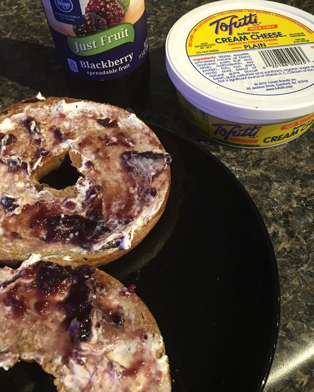 Leslie Mckerchie On Instagram When You Haven T Had Bagels In Forever You Have Them Twice In One Day Sweet Tofutti Black Tofutti Fruit Cream Yummy