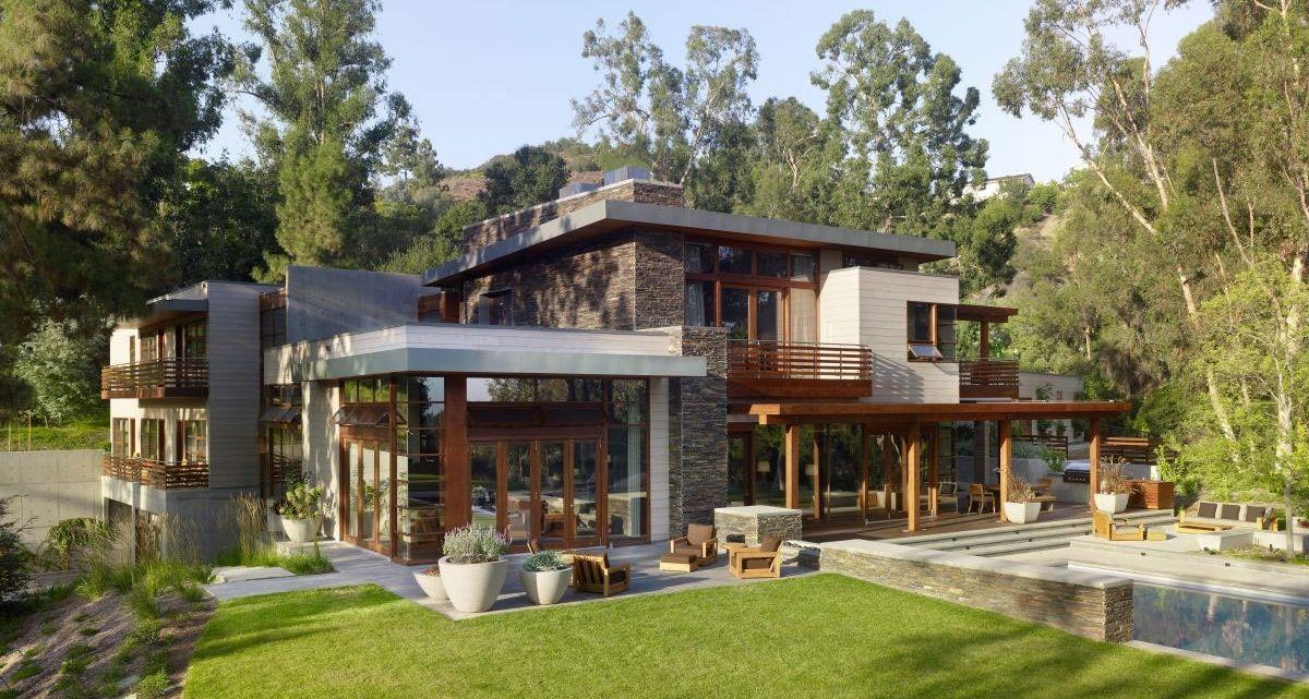 magnifique maison bois et pierre contemporaine prs de los angeles usa construiretendance