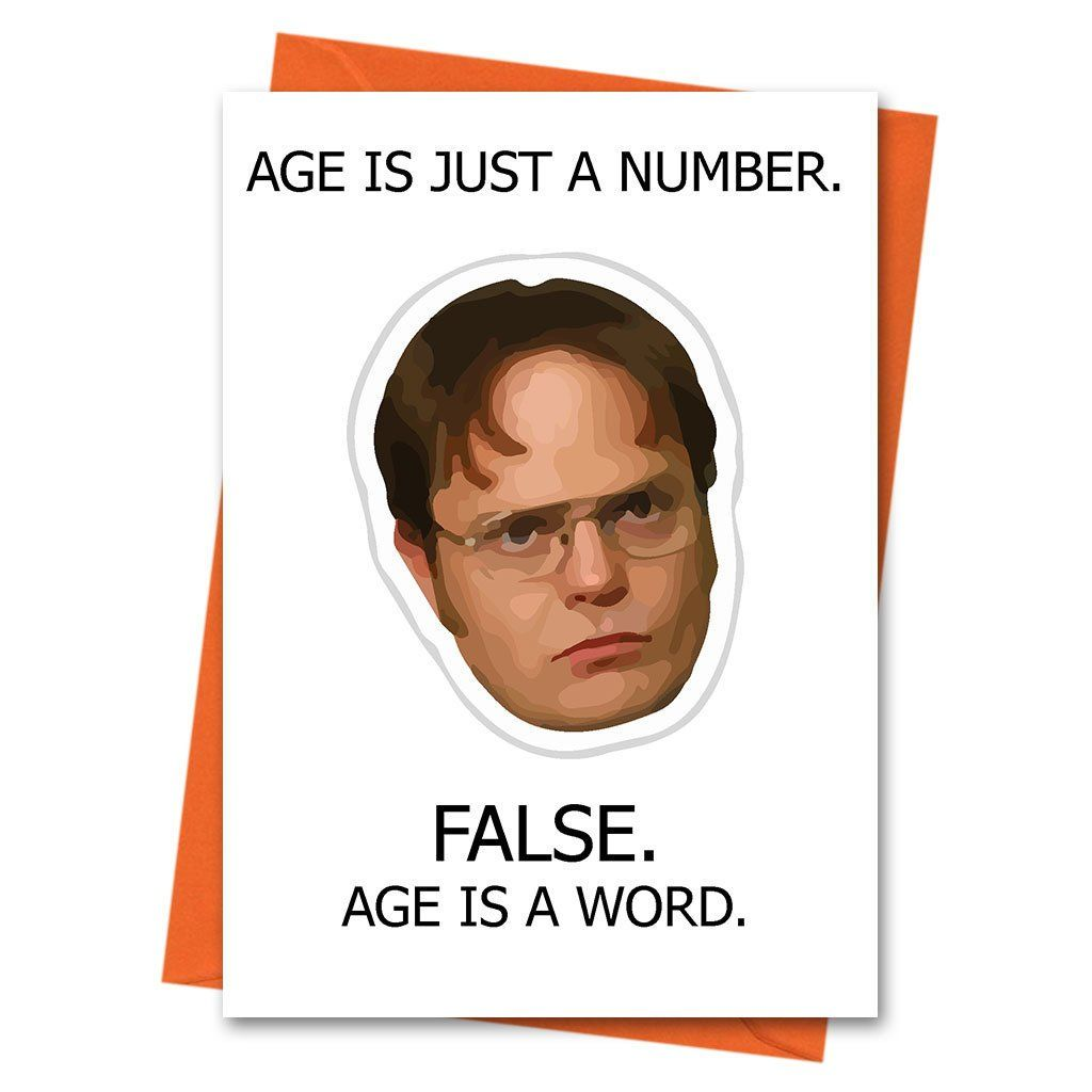 Funny Birthday Card, The Office US, Dwight Schrute, Age