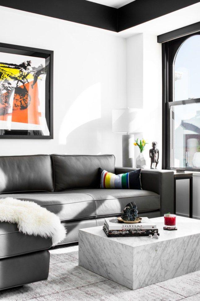 Un appartement en noir et blanc (et couleurs) - PLANETE DECO a homes