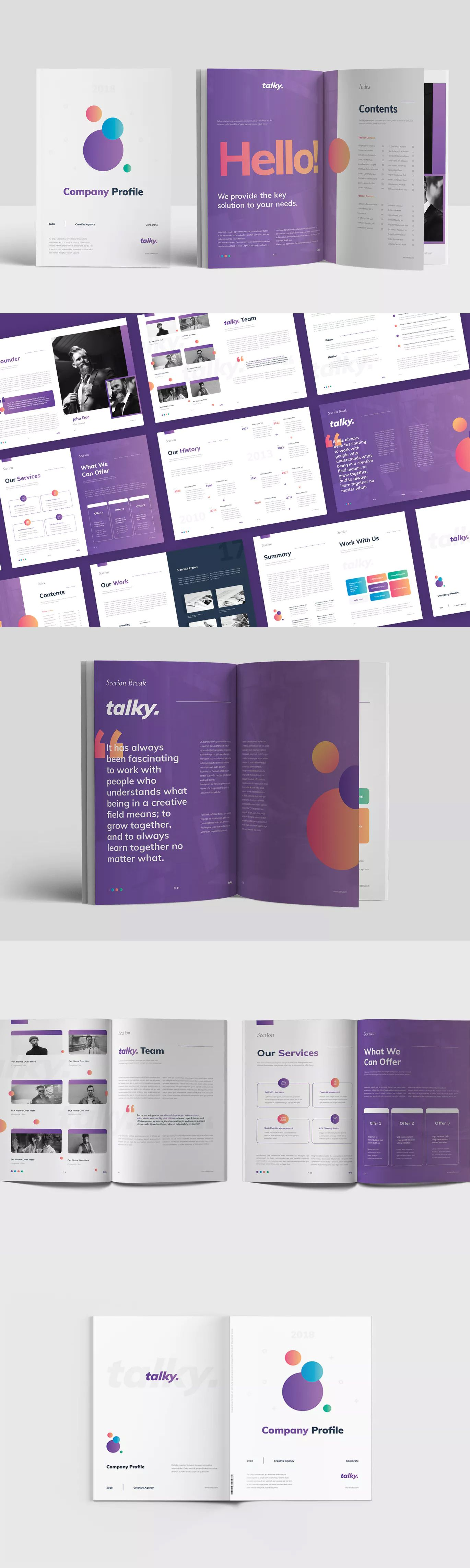 Company Profile Template InDesign INDD - A4 | Company Profile ...