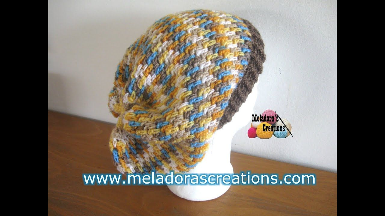 d1009e9e222 Thick Mesh Slouch Hat - Revised Edition - Crochet Tutorial - YouTube ...