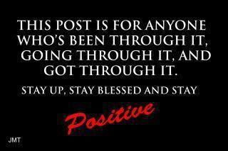 Stay positive-