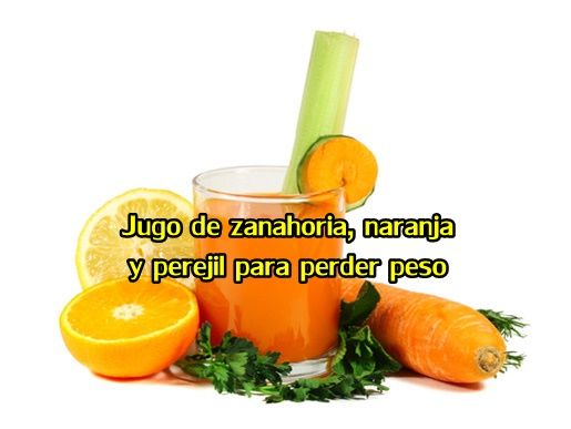 jugo de zanahoria y naranja para perder peso