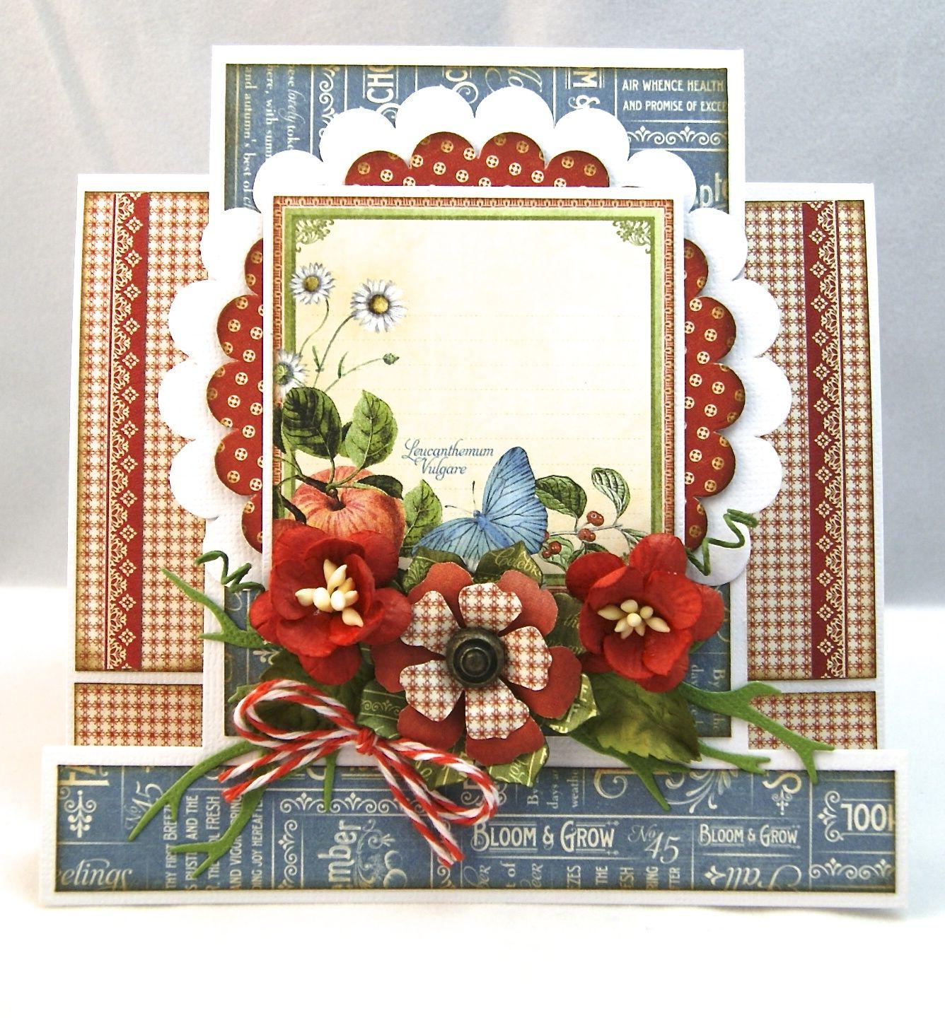 Скрапбукинг открытка на 65