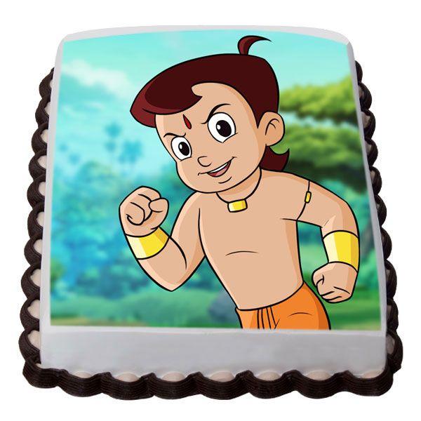 Clever Chota Bheem Cake Cartoon Online Hyderabad