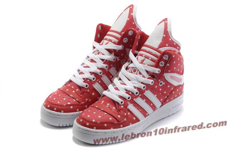 new arrival a2dd9 e3b4d Girl Adidas X Jeremy Scott Big Tongue Shoes Rain Red