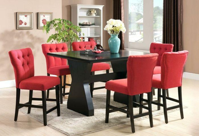 Rote Küchenstühle ~ Moderne stühle esszimmer gepolsterte rote stühle esszimmer