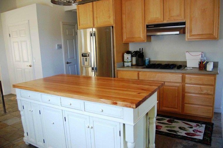 Blanco y madera - Cincuenta ideas para decorar tu cocina | Islas de ...