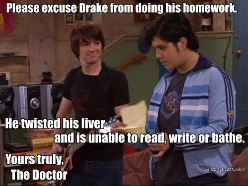 HAHAHAHA BEST EXCUSE NOTE EVER! (With images) Drake and