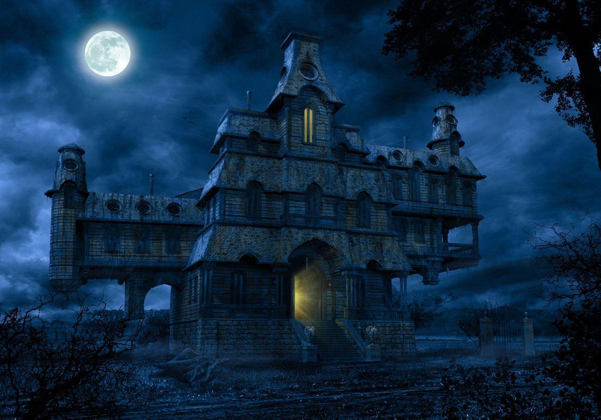 Cartoon haunted house image