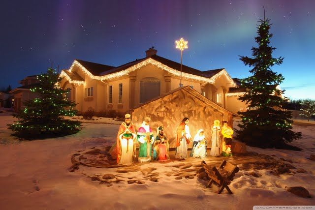 Outdoor Christmas Nativity Scene Great Source Of Inspiration For Your Craft Projects Outdoor Christmas Photos Outdoor Christmas Outdoor Nativity