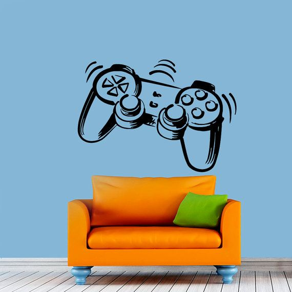 game wall decals joystick decal game vinyl sticker home on wall stickers for home id=45331