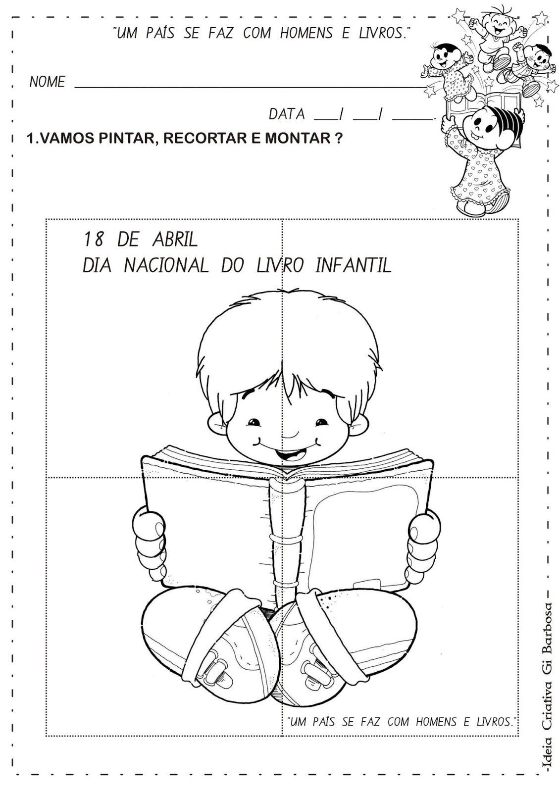 Atividade Quebra Cabeca Dia Do Livro Infantil Jpg 1131 1600