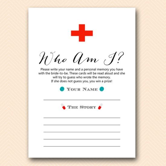 bs501 who am i doctor bridal shower game printable