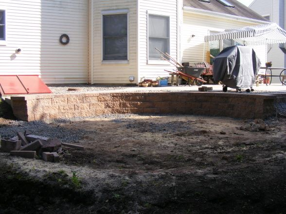 Retaining Wall Around Above Ground Pool Backyard Make Over What To Do After Removing An Above Ground Pool Backyard Backyard Pool Diy Backyard