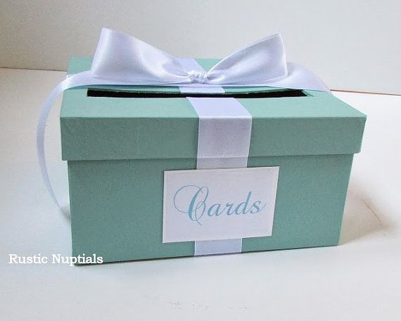 Pin By Deborah Robles On Baby Shower Ideas Baby Shower Card Box Baby Shower Card Holder Tiffany Baby Showers