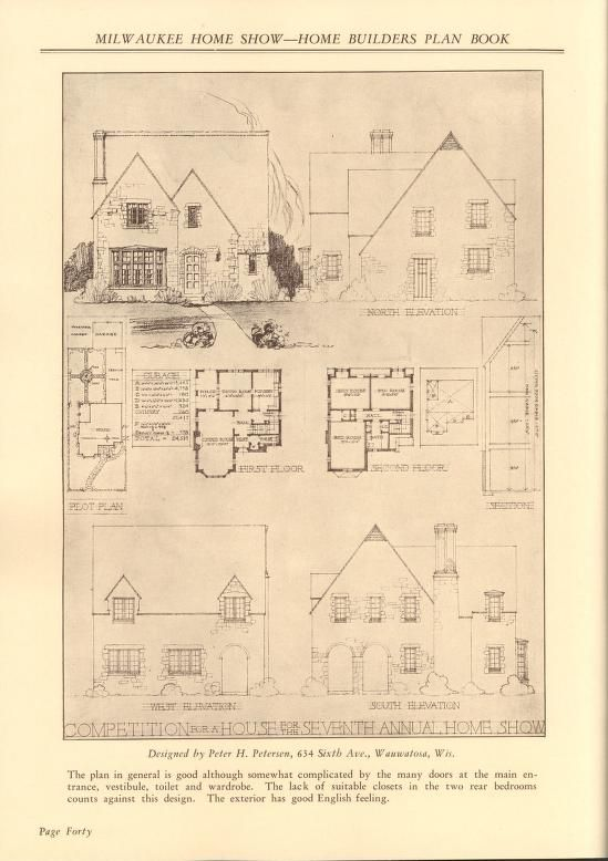 Home builders plan book house plans 1900 1930s pinterest home builders plan book malvernweather Image collections