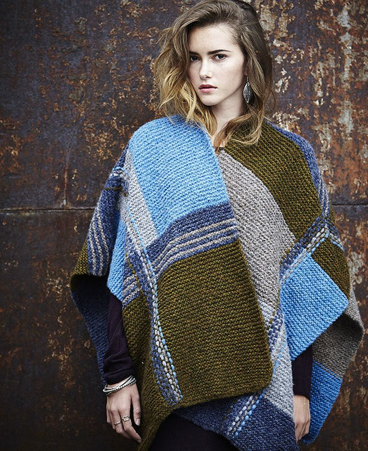 FREE knitted poncho pattern - download at LoveKnitting | Poncho ...