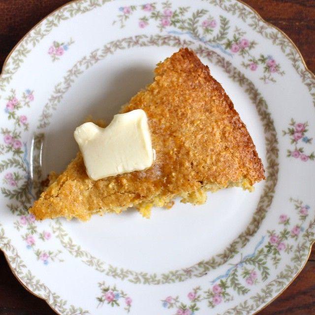 Brown butter skillet corn bread #ontheblog ! Link in profile! #cassieskitchen