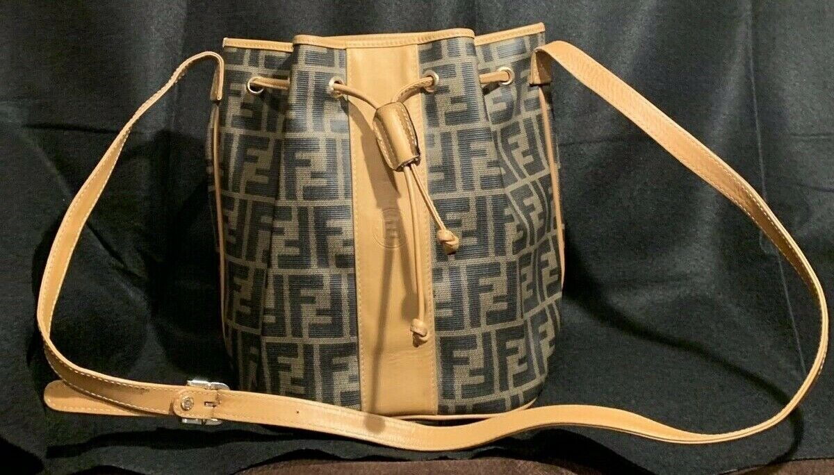 31f30f24d9 Details about Vintage Authentic Fendi Side Bucket Bag in 2019 ...