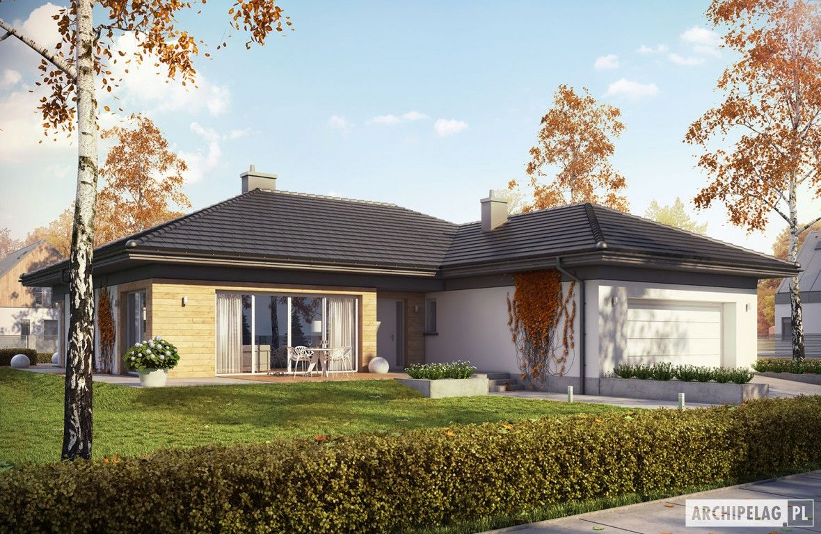 Dominik G2 Wersja A Home Plans One Storey House House House Plans