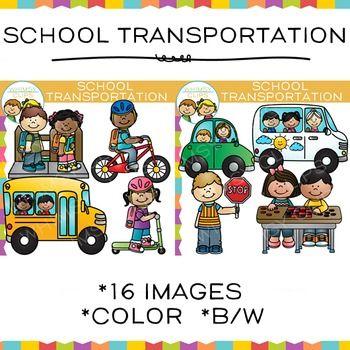 25+ Transportation Clipart Black White