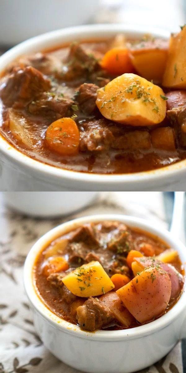 Easy Instant Beef Stew   Weekday dinner in pressure cooker