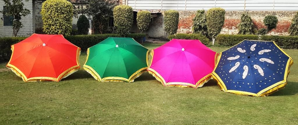 Fancy Silk Umbrellas    Umbrellas are used as Party Props, as Party Decoration Items at Indian Weddings and Photo Booths. Buy Fancy Umbrellas, Wedding Umbrellas and Silk Garden Umbrellas from Sangeeta International in Karol Bagh, New Delhi. For Party Tents check our website http://www.indiantents.com