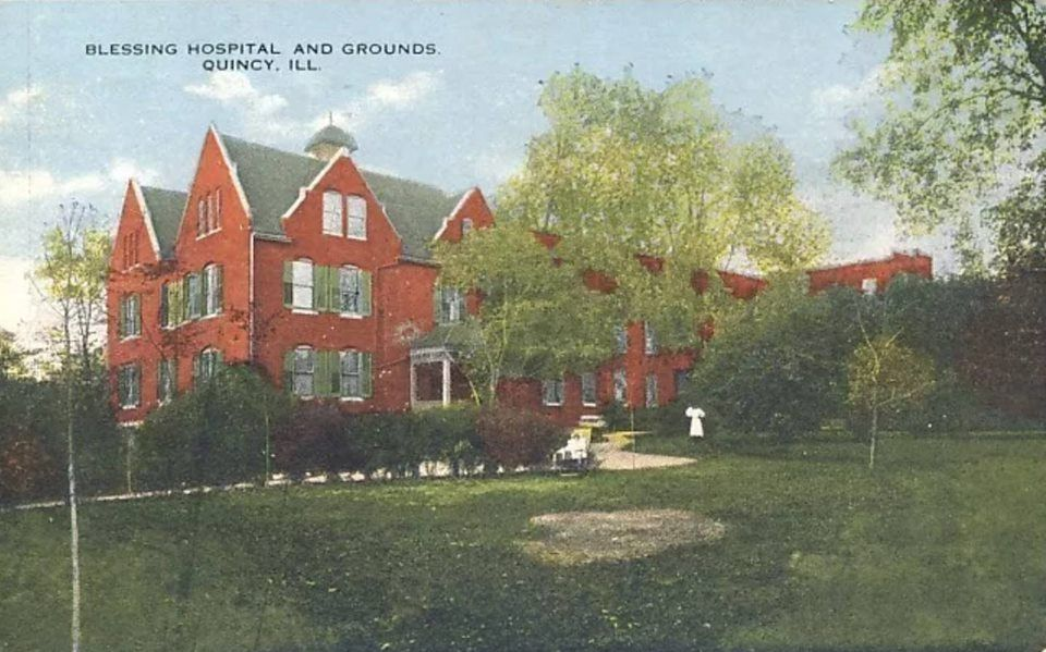 Blessing hospital grounds 1921 quincy illinois