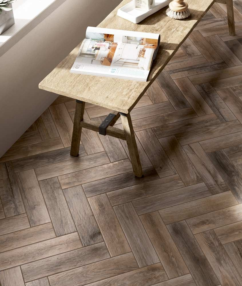 Create a gorgeous herringbone pattern with some miniature wood create a gorgeous herringbone pattern with some miniature wood effect plank tiles dailygadgetfo Choice Image