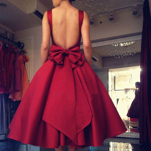 formal dress with bow