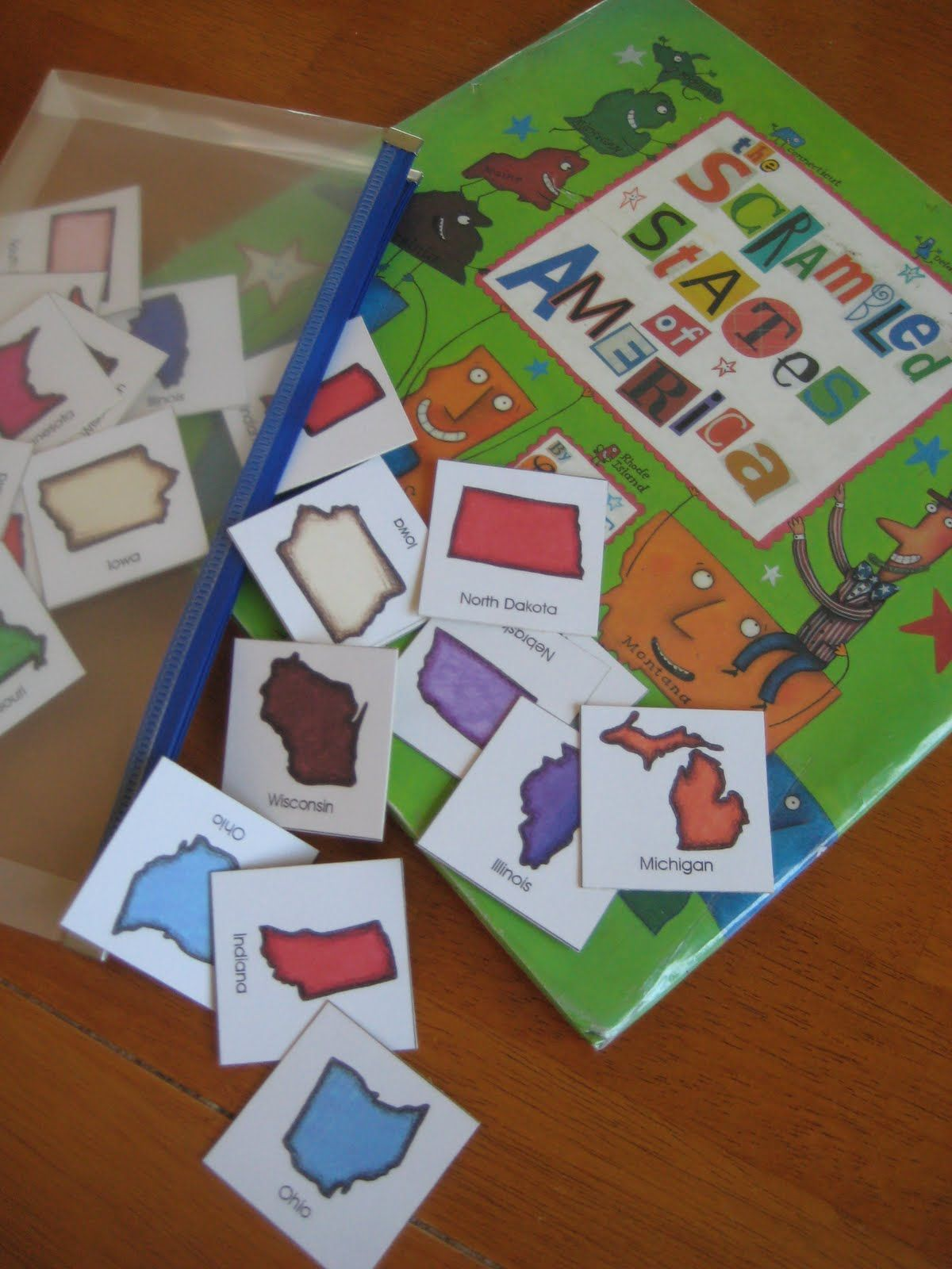 50 States Memory Game Preschool