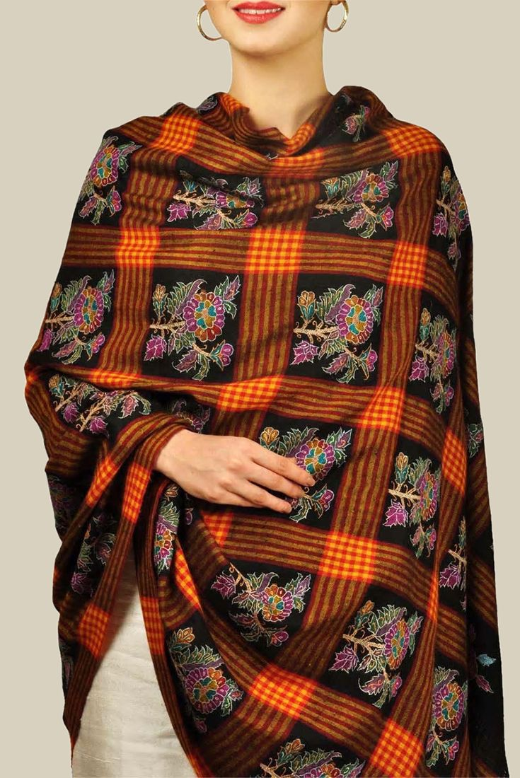 Pure Kashmir Pashmina Kani Bootadar With Sozni Embroidery Shawl Kashmiri Shawls Pashmina Shawl Fashion