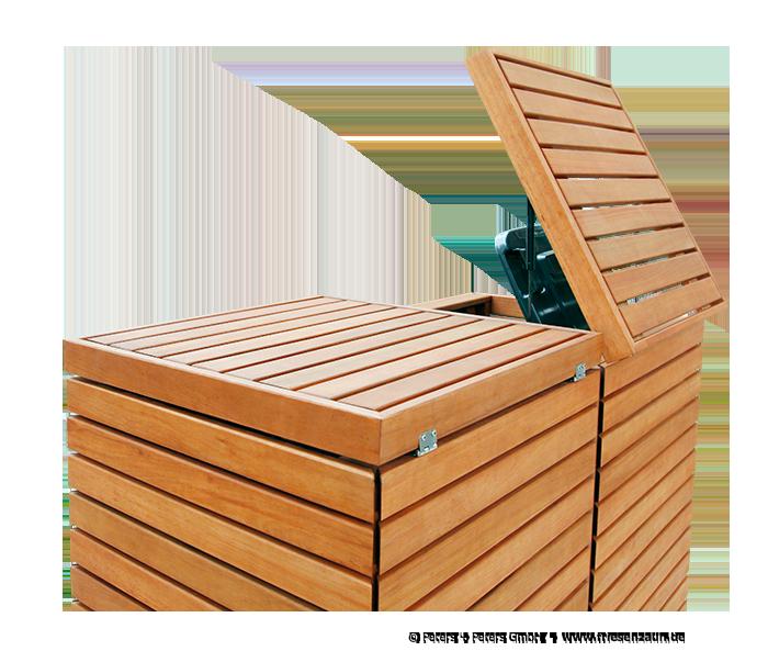 edle m lltonnenbox in tischlerqualit t m lltonnenschrank cubus holz fertig ge lt. Black Bedroom Furniture Sets. Home Design Ideas